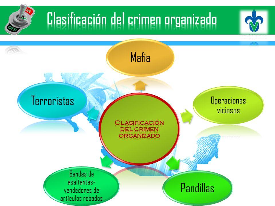 Clasificación del crimen organizado