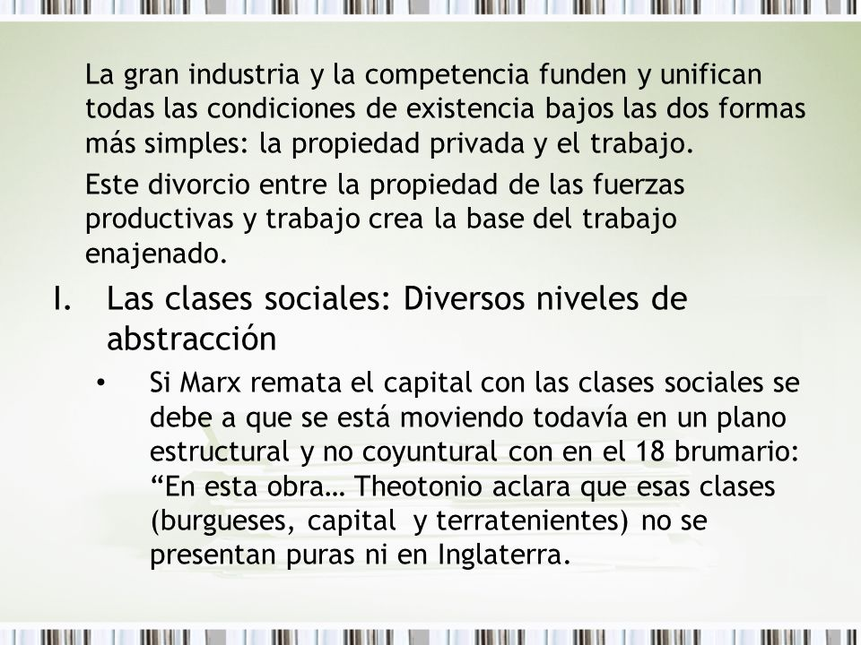 Las clases sociales: Diversos niveles de abstracción