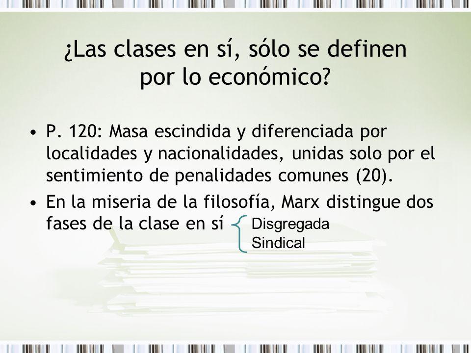 ¿Las clases en sí, sólo se definen por lo económico