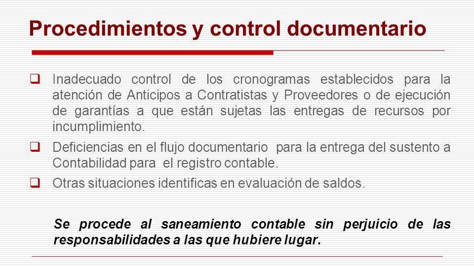 Procedimientos y control documentario