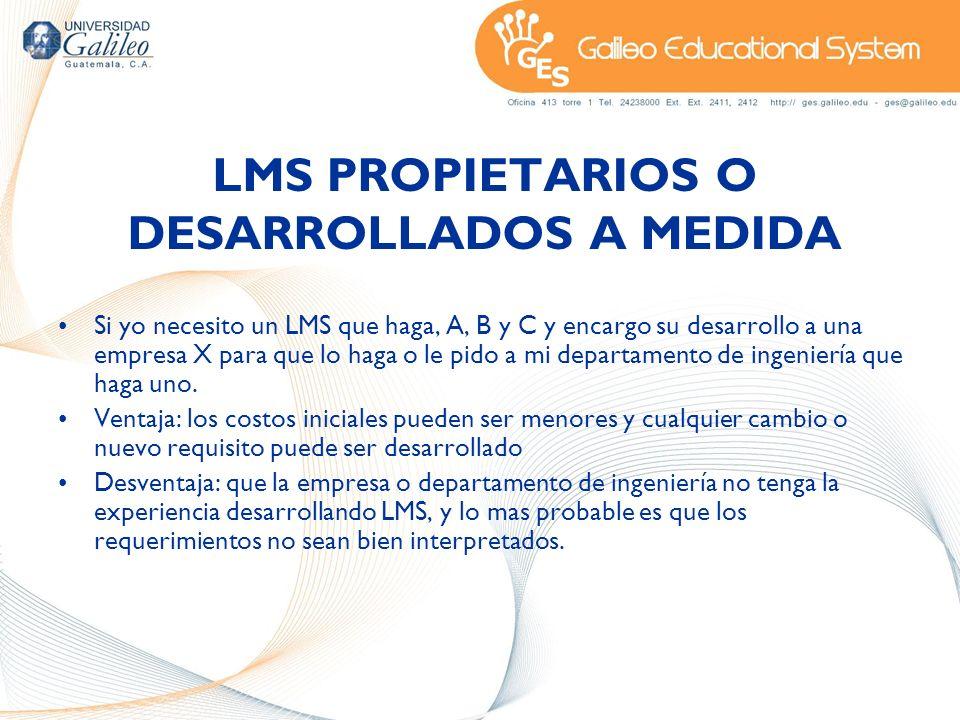 LMS PROPIETARIOS O DESARROLLADOS A MEDIDA
