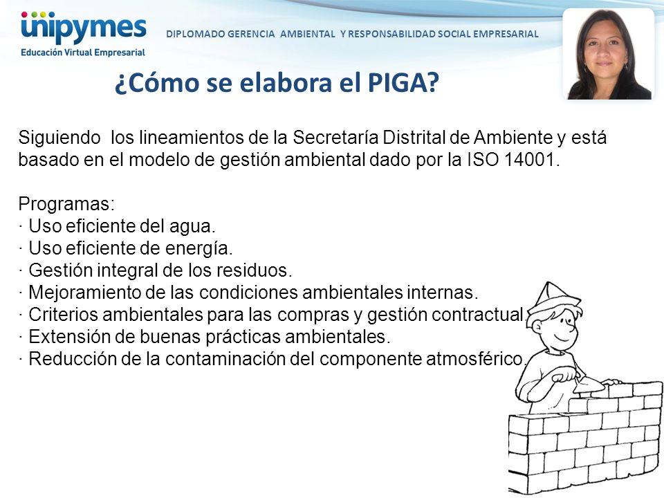 ¿Cómo se elabora el PIGA