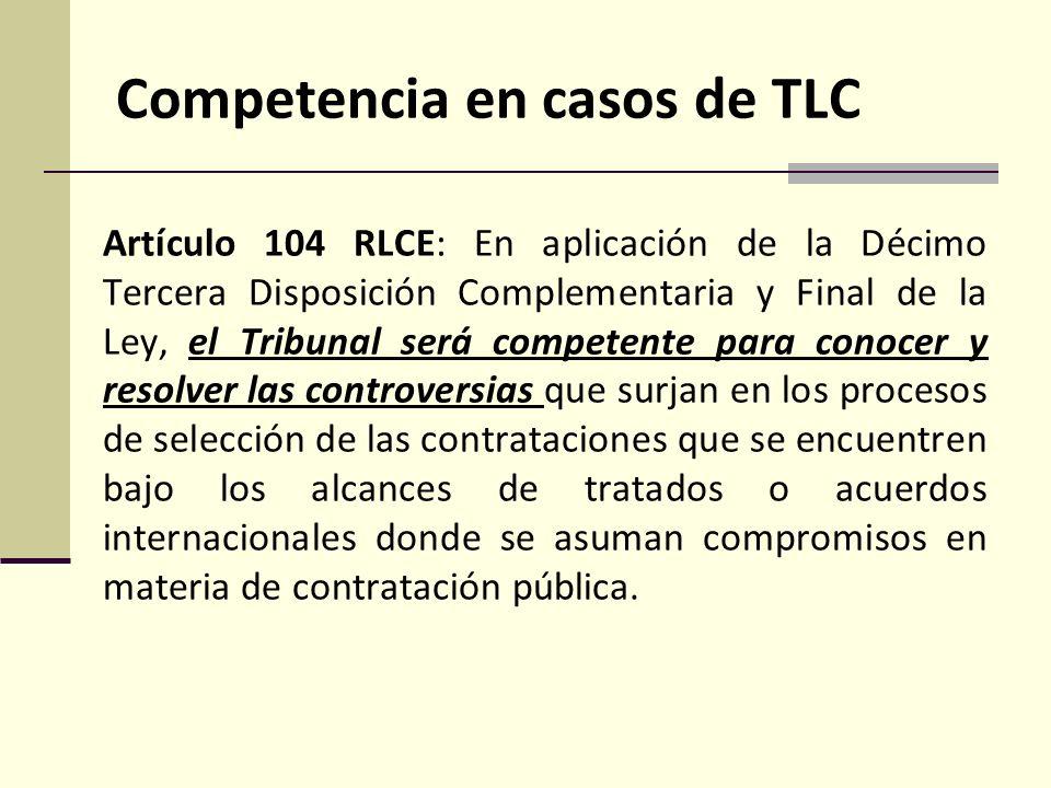 Competencia en casos de TLC