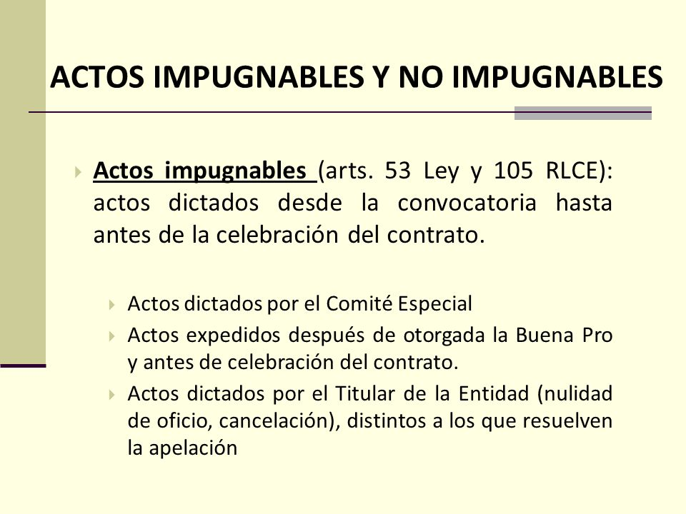 ACTOS IMPUGNABLES Y NO IMPUGNABLES