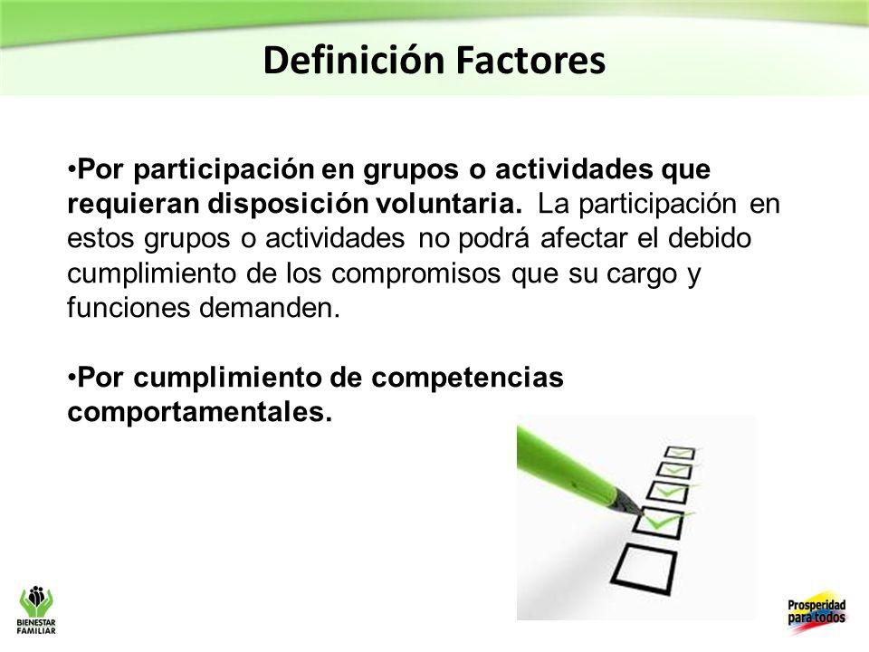 Definición Factores