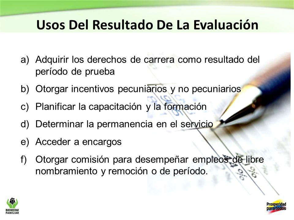 Usos Del Resultado De La Evaluación