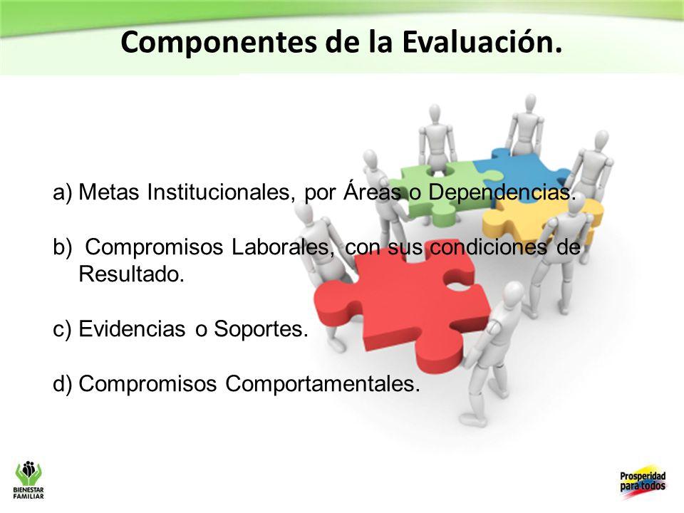 Componentes de la Evaluación.