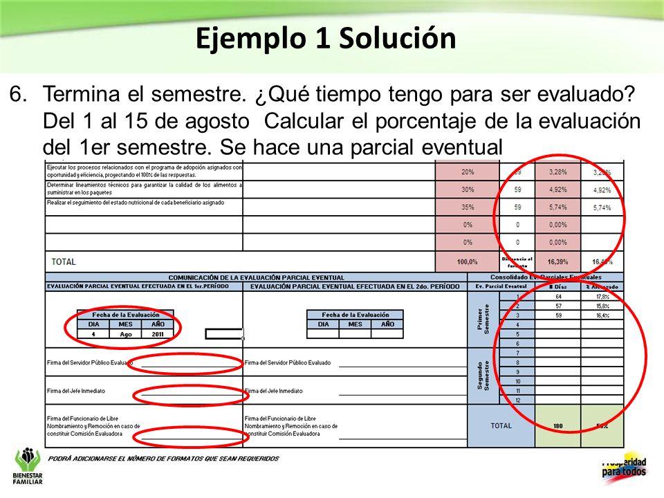 Ejemplo 1 Solución
