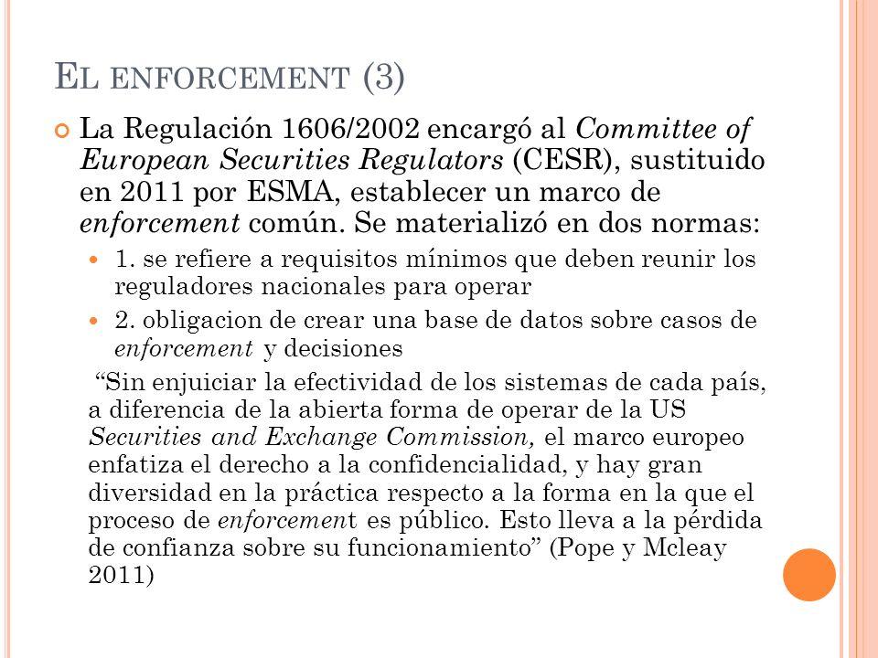 El enforcement (3)