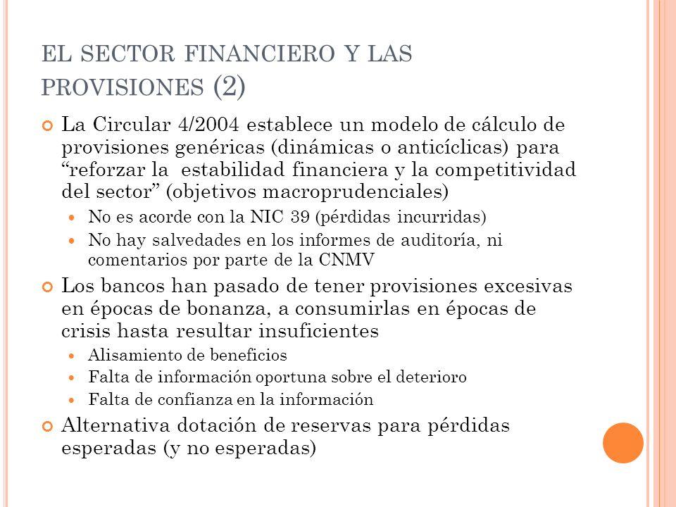 el sector financiero y las provisiones (2)