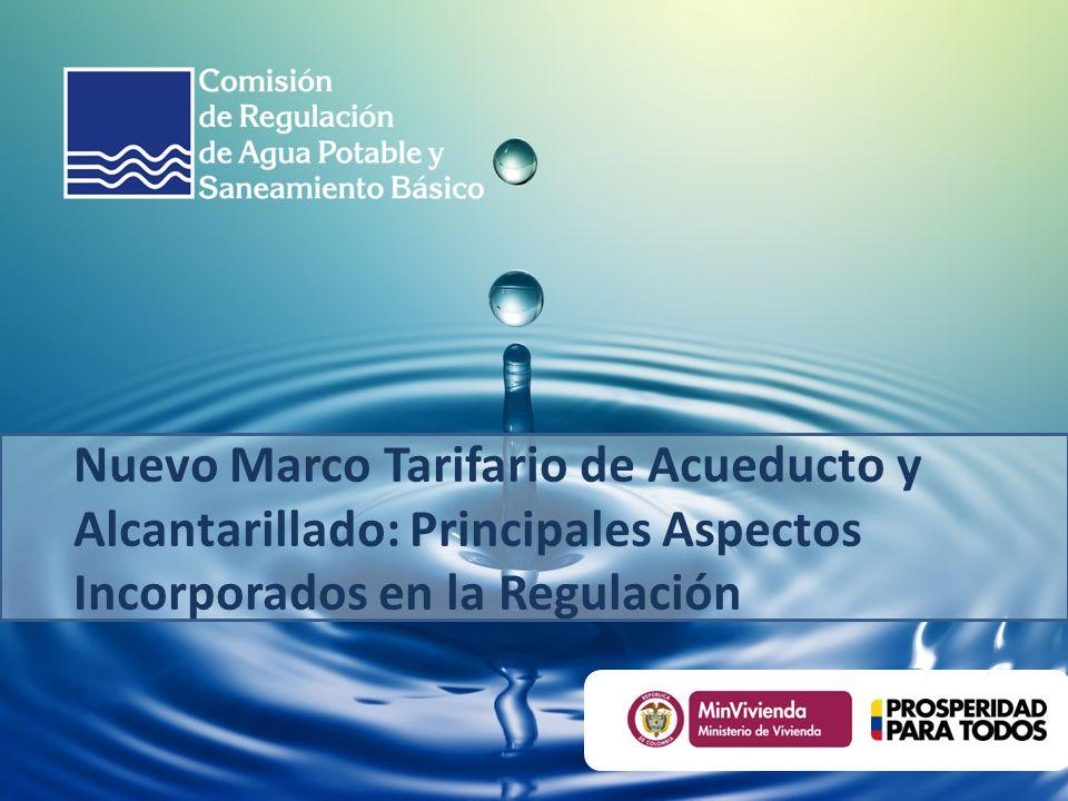 Nuevo Marco Tarifario de Acueducto y Alcantarillado: Principales Aspectos Incorporados en la Regulación