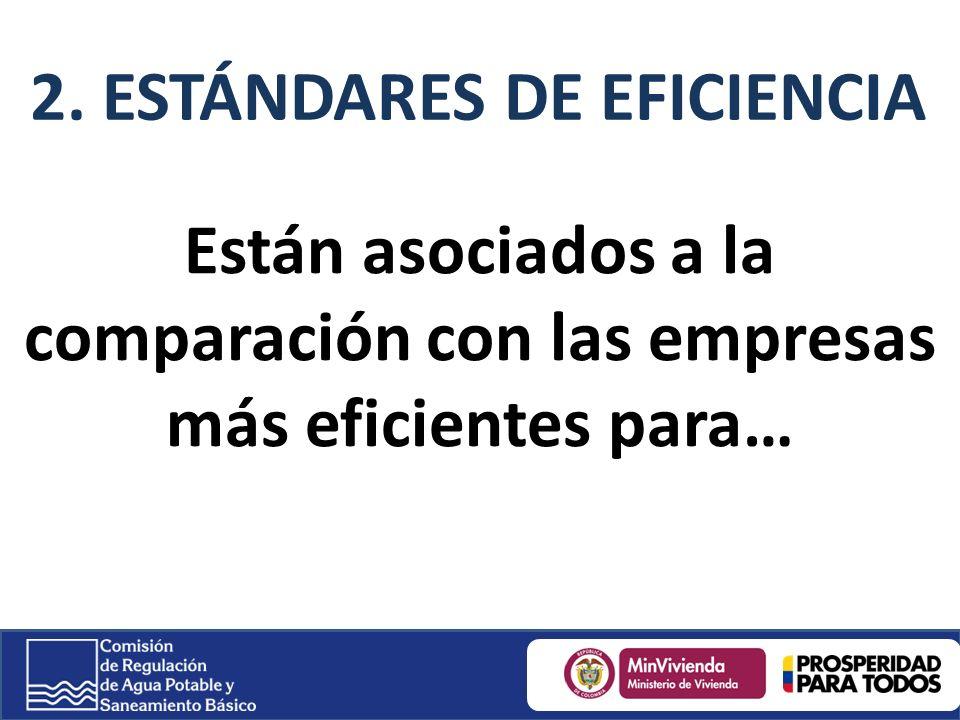 2. ESTÁNDARES DE EFICIENCIA