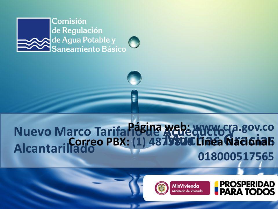 Nuevo Marco Tarifario de Acueducto y Alcantarillado