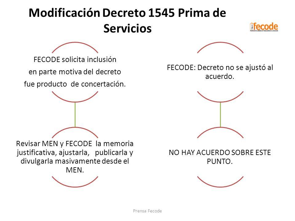 Modificación Decreto 1545 Prima de Servicios