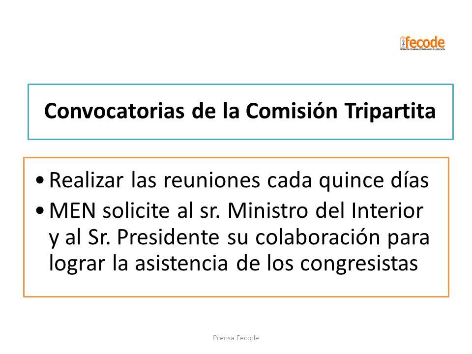 Convocatorias de la Comisión Tripartita