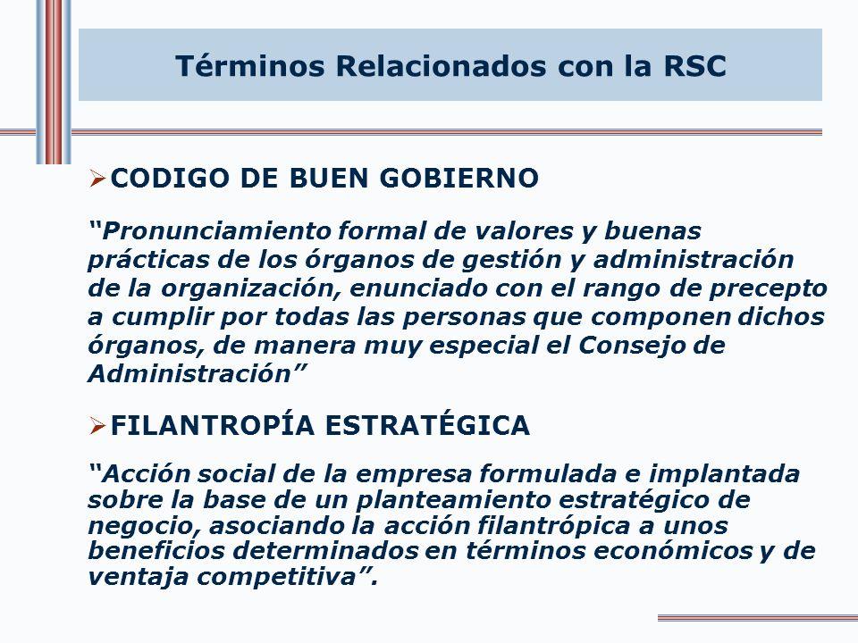 Términos Relacionados con la RSC