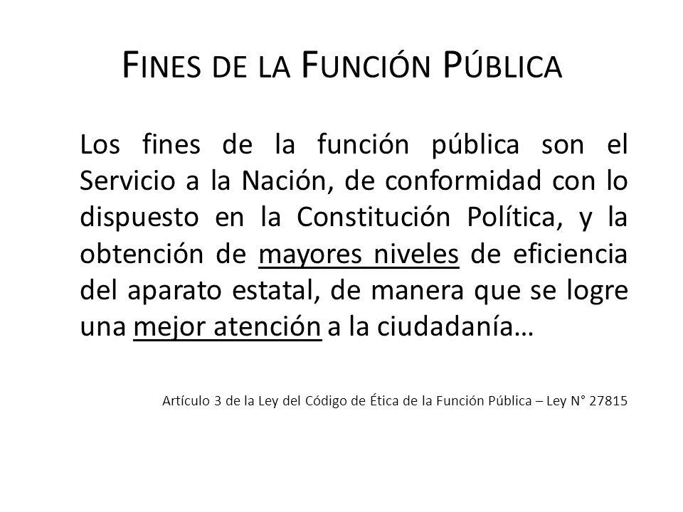 Fines de la Función Pública