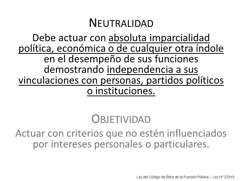 Neutralidad Objetividad