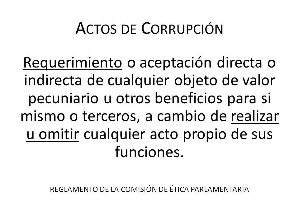 REGLAMENTO DE LA COMISIÓN DE ÉTICA PARLAMENTARIA