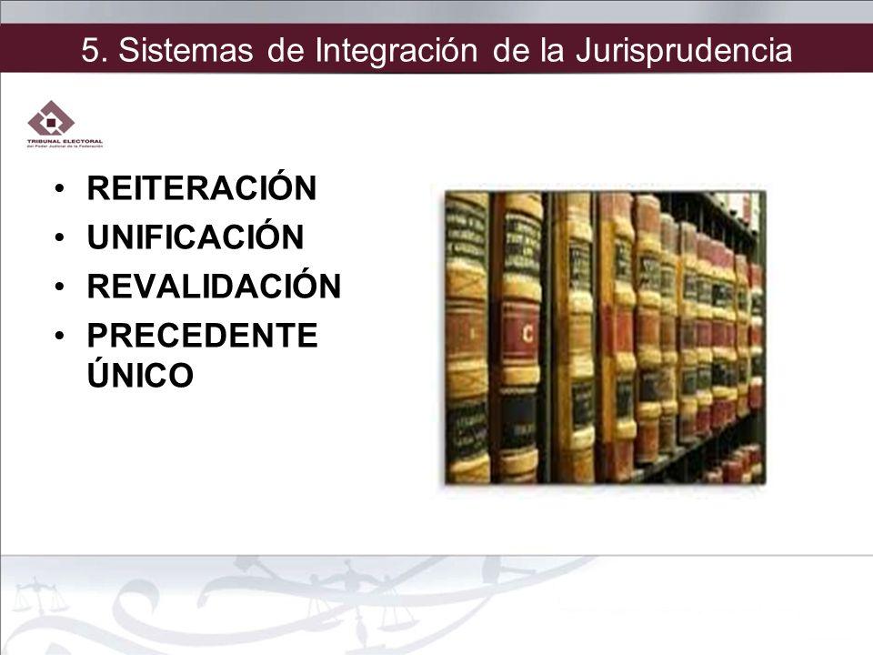 5. Sistemas de Integración de la Jurisprudencia