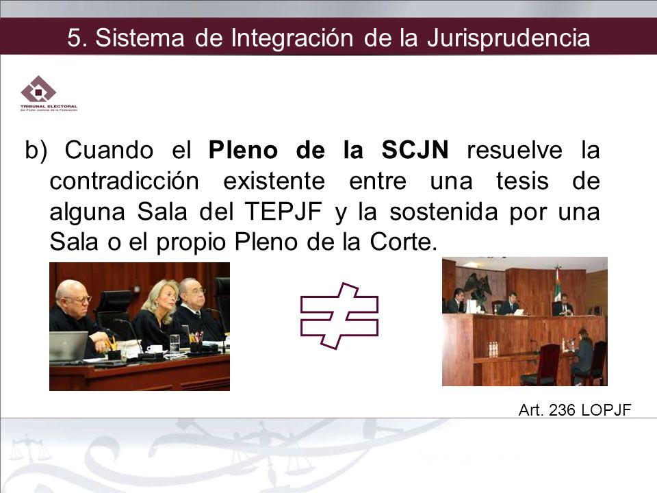 5. Sistema de Integración de la Jurisprudencia