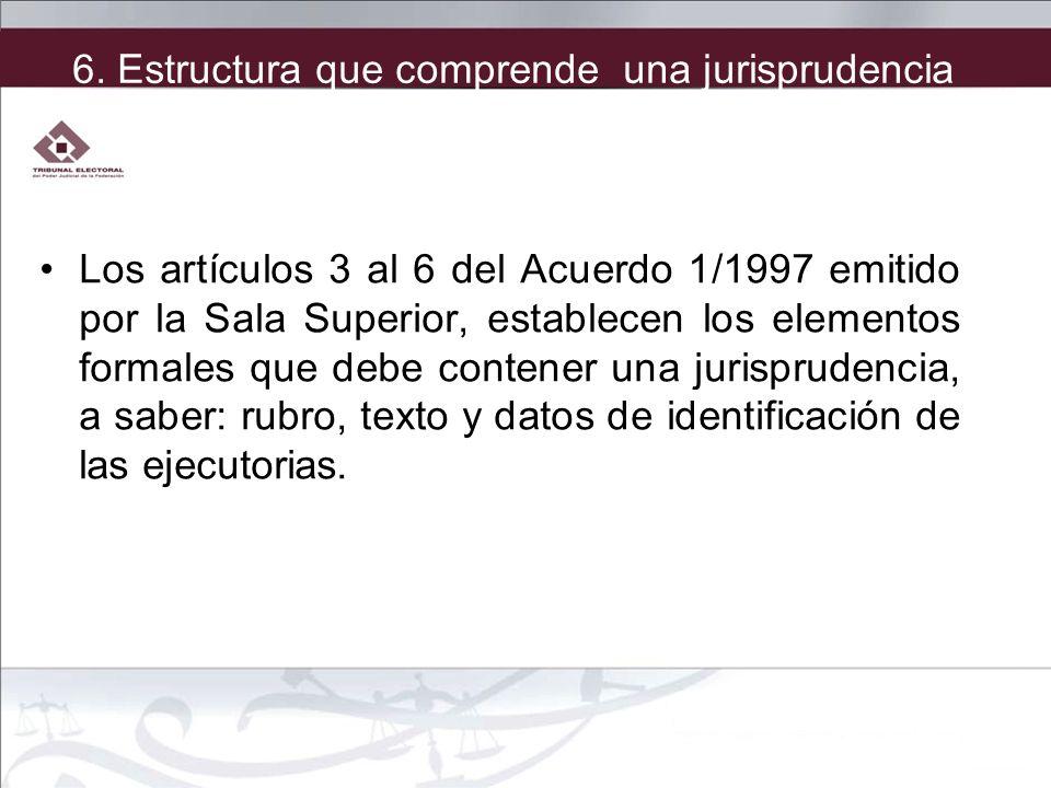 6. Estructura que comprende una jurisprudencia