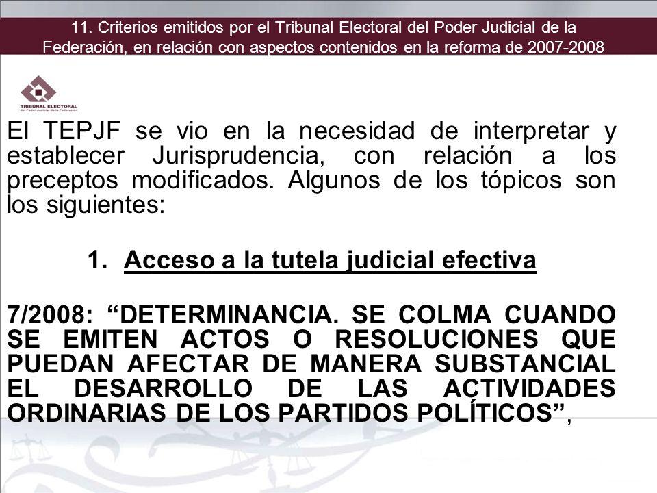 Acceso a la tutela judicial efectiva