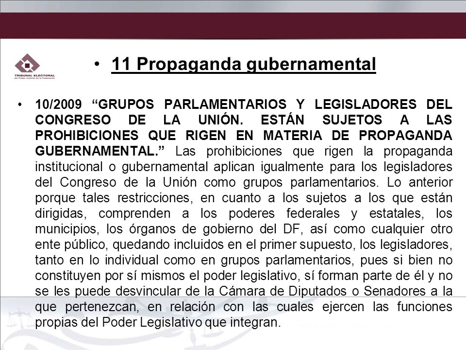 11 Propaganda gubernamental