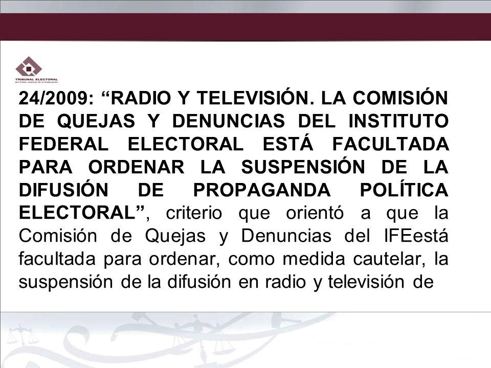 24/2009: RADIO Y TELEVISIÓN.