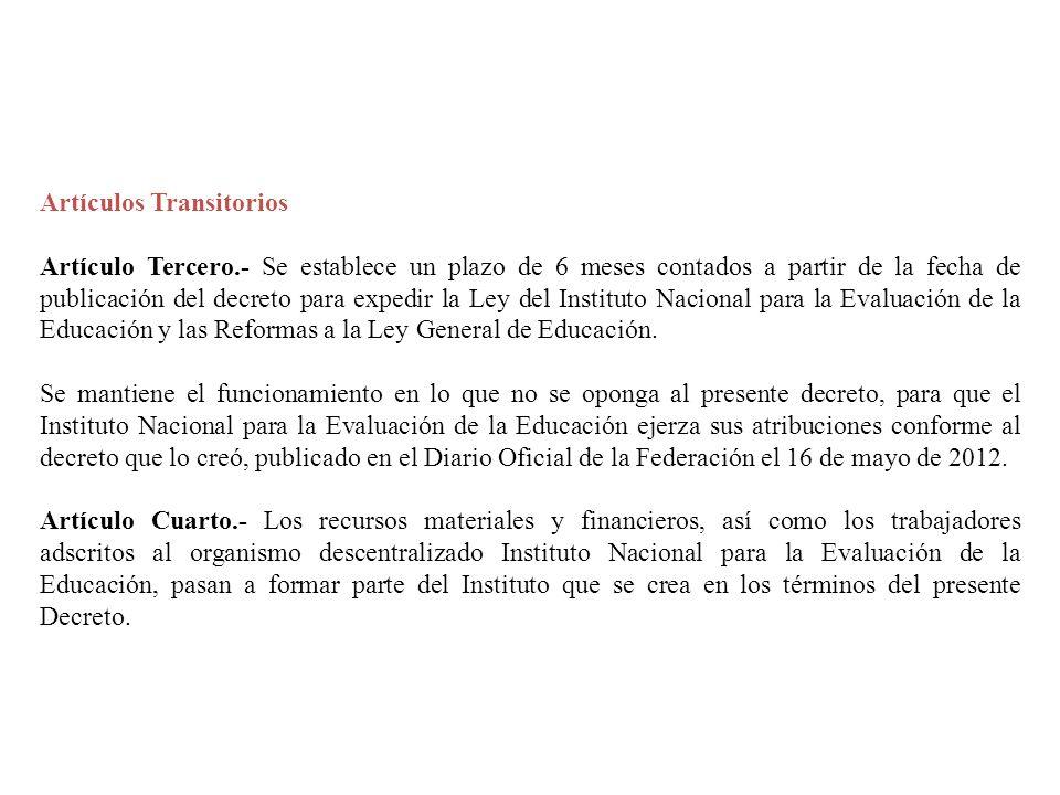 Artículos Transitorios