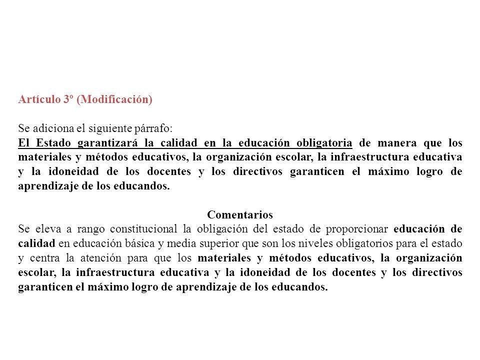 Artículo 3º (Modificación)