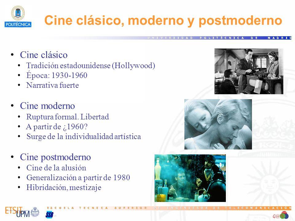 Cine clásico, moderno y postmoderno