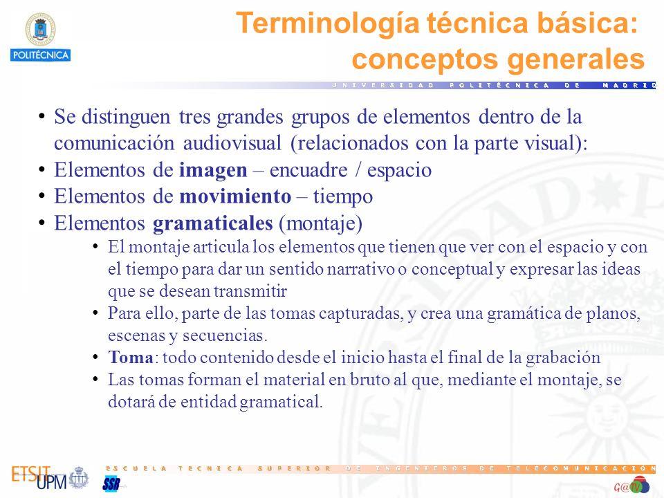 Terminología técnica básica: conceptos generales