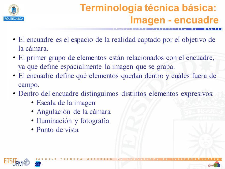 Terminología técnica básica: Imagen - encuadre