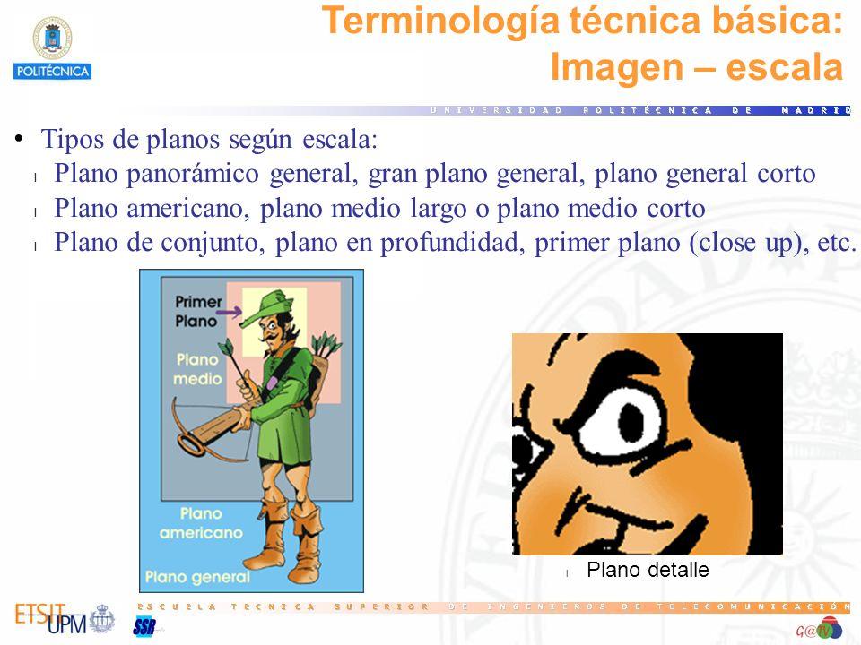 Terminología técnica básica: Imagen – escala