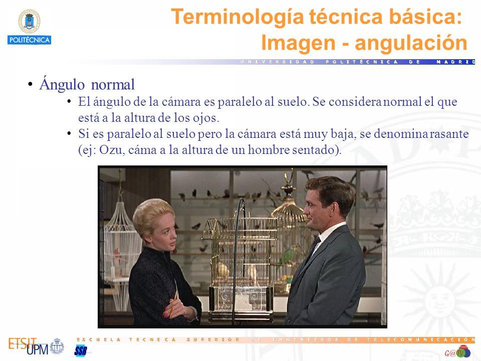 Terminología técnica básica: Imagen - angulación