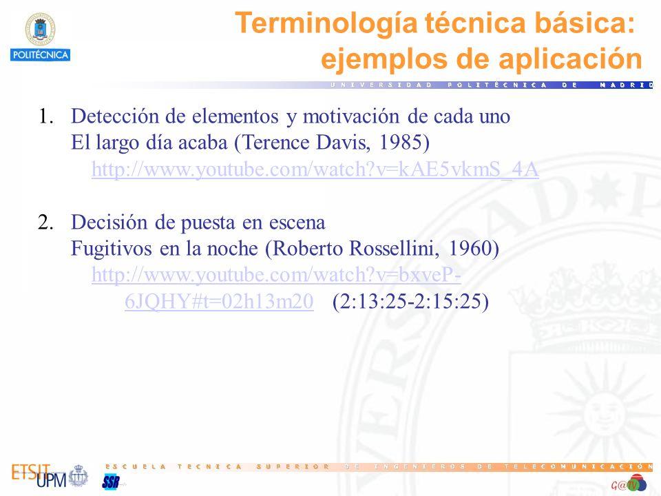Terminología técnica básica: ejemplos de aplicación