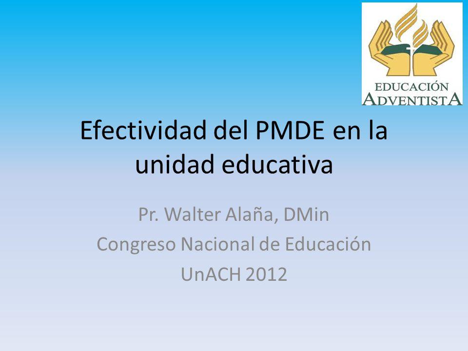 Efectividad del PMDE en la unidad educativa