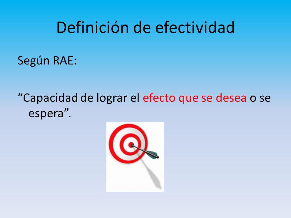 Definición de efectividad