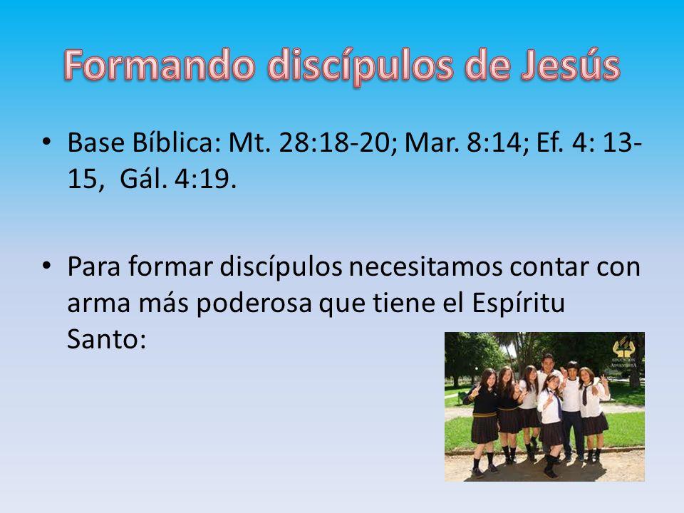 Formando discípulos de Jesús