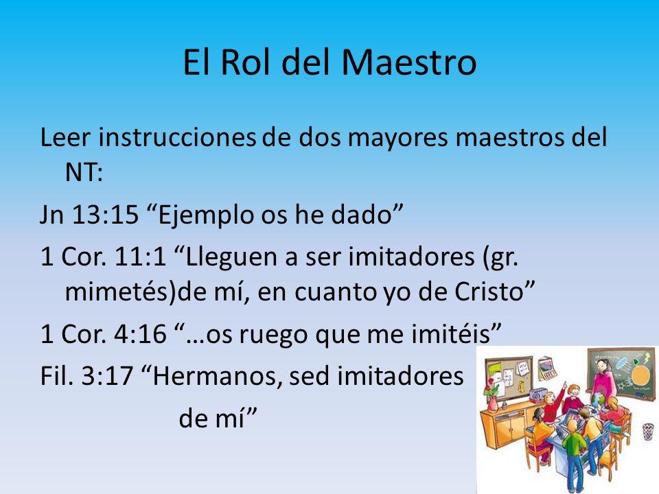 El Rol del Maestro