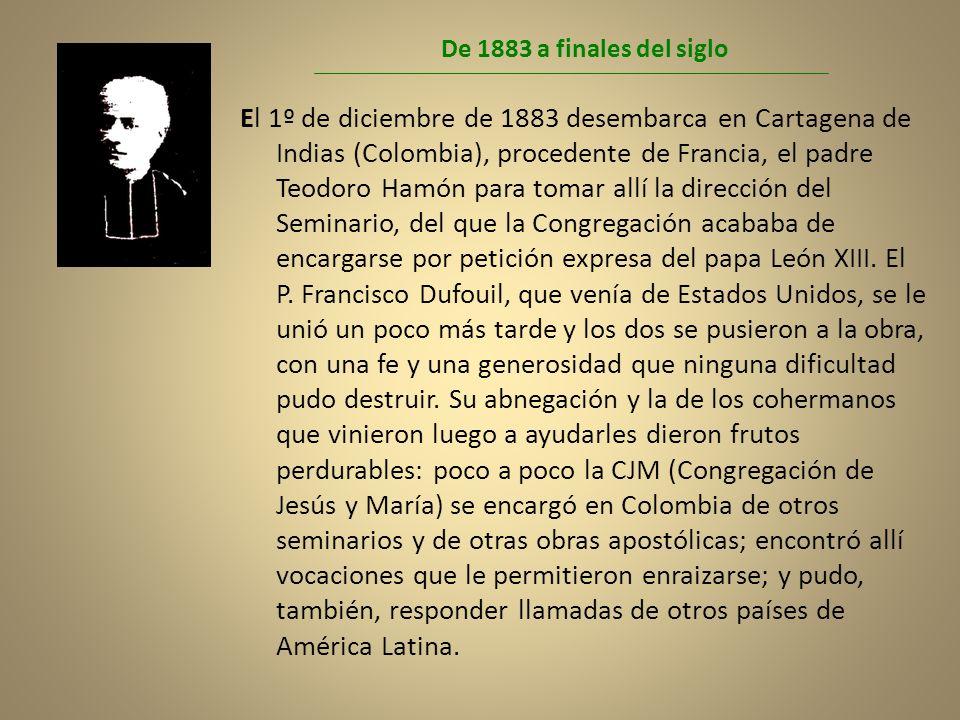 De 1883 a finales del siglo