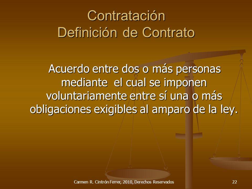 Contratación Definición de Contrato