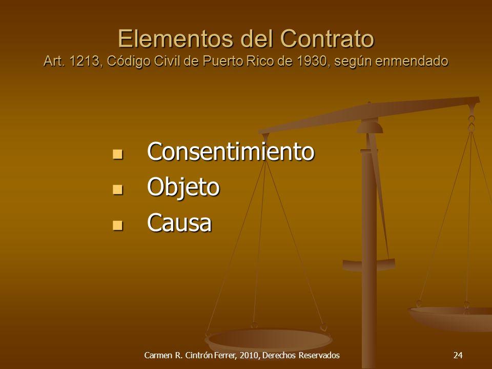 Carmen R. Cintrón Ferrer, 2010, Derechos Reservados