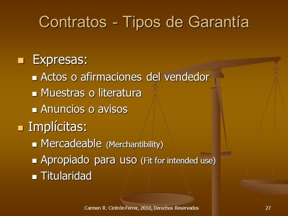 Contratos - Tipos de Garantía