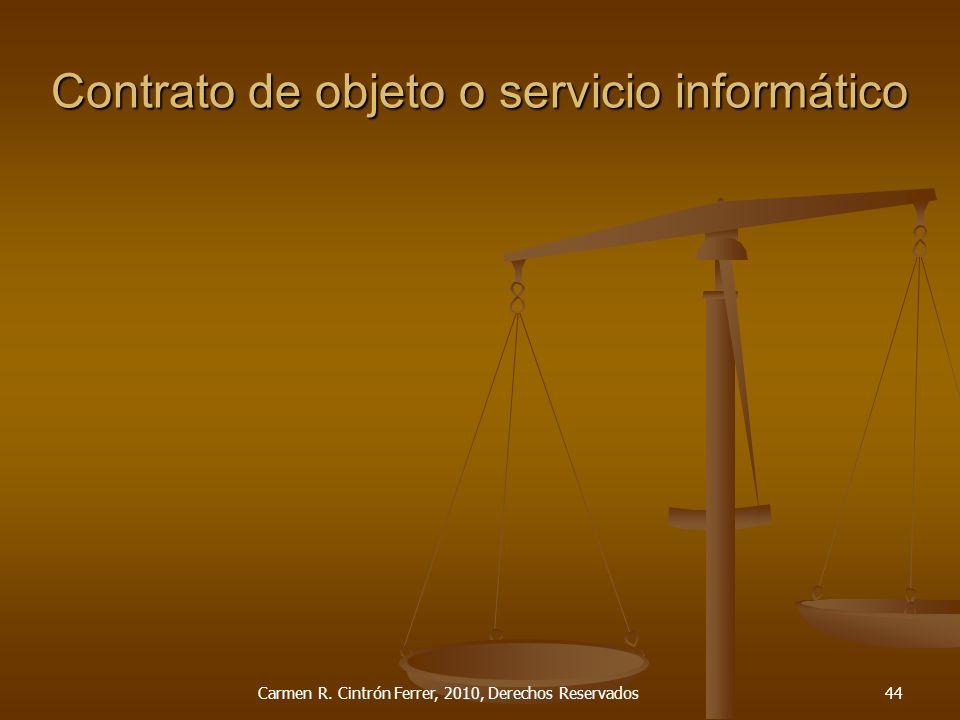 Contrato de objeto o servicio informático