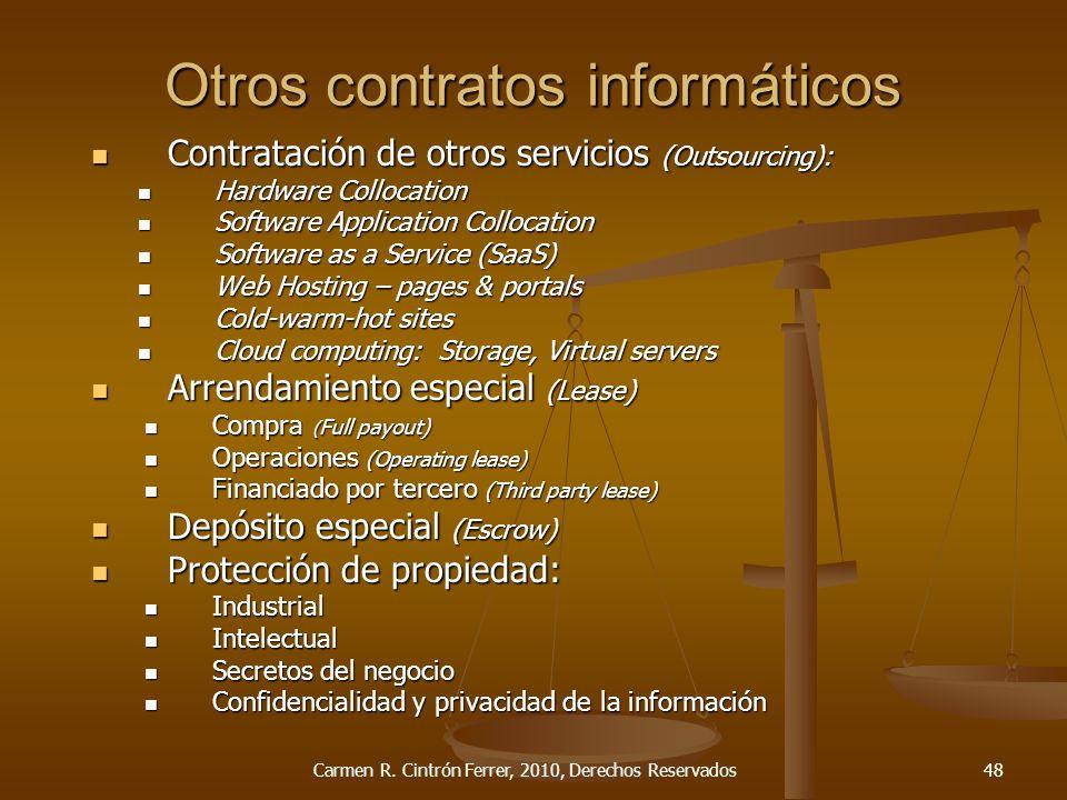 Otros contratos informáticos