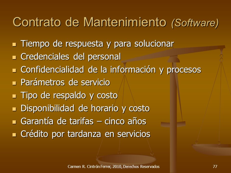 Contrato de Mantenimiento (Software)
