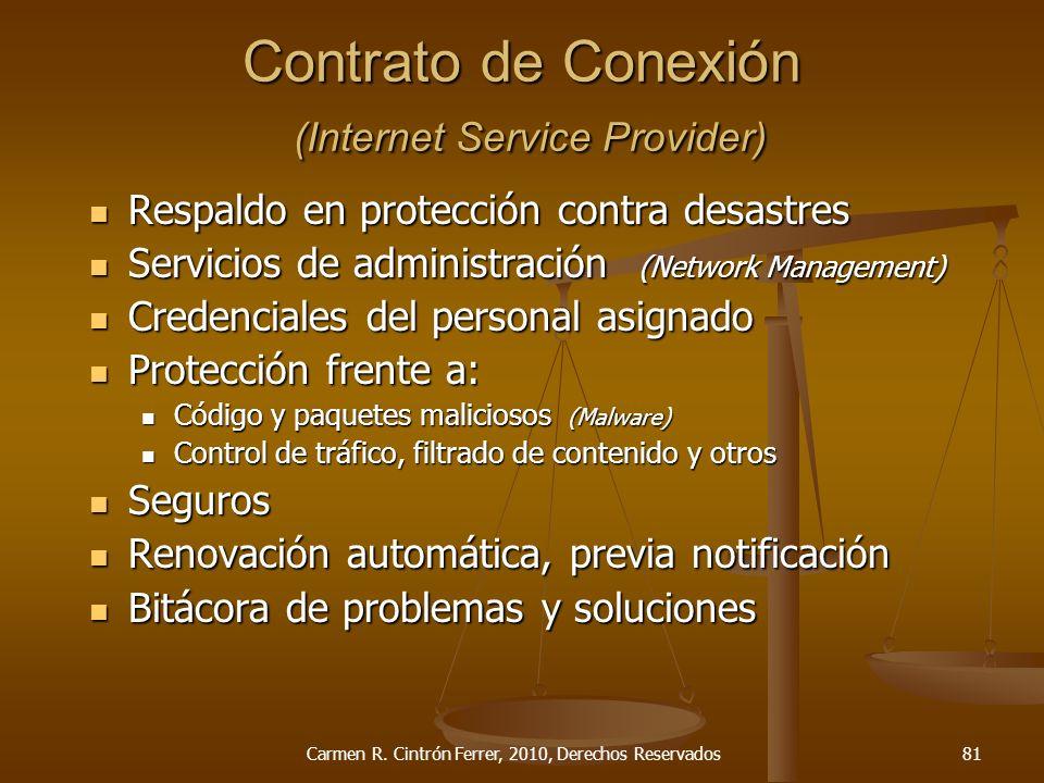 Contrato de Conexión (Internet Service Provider)