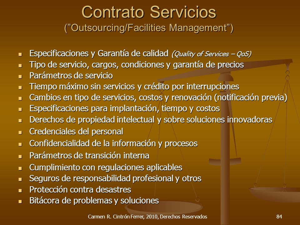 Contrato Servicios ( Outsourcing/Facilities Management )